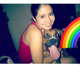 el perro arcoiris sonrie en CICE y yo