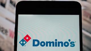 """""""Domino picerijos"""" programėlės vaizdas telefono ekrane"""