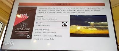 A description of the Cafédirect Intense Roast.