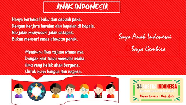 Puisi hari anak nasional ANAK INDONESIA | 34 sastra indonesia