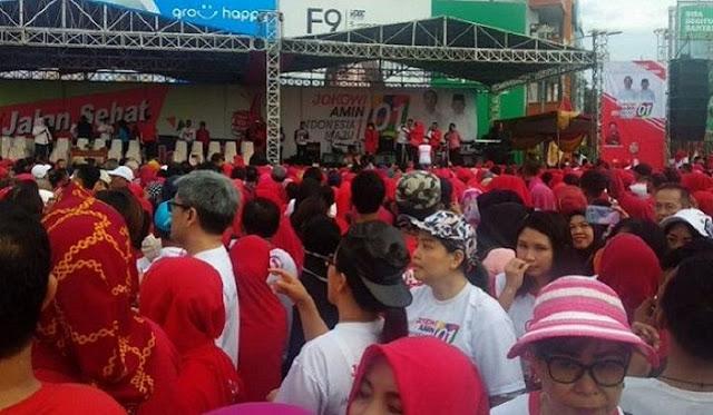 Jalan Sehat Bersama Jokowi di Lampung Diikuti 30 Ribu Peserta