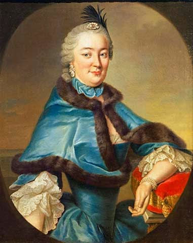 Countess Palatine Caroline of Zweibrücken by Johann Georg Ziesenis