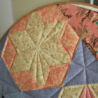 Candied Hexagon quilt: QuiltBee