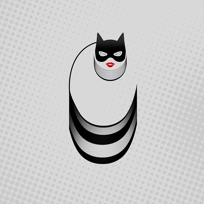 Tipografía superhéroes Roxana Nita