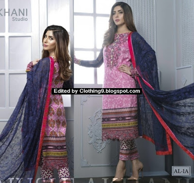 Spring Summer Luxury Lawn 2016-17 by Anusheh Lakhani