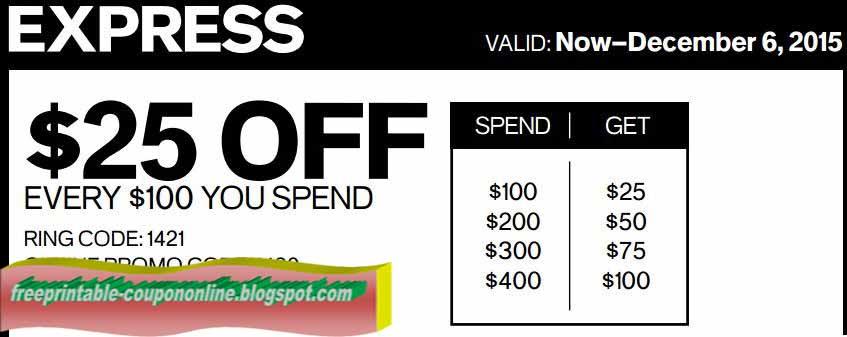 Express printable coupons 2019