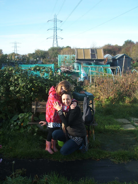 family time on our allotment