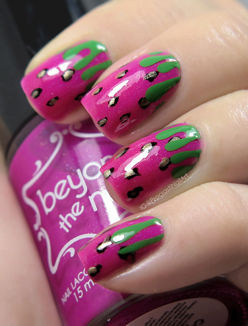 Nail Art // Strawberry Drip Nails with Born Pretty Store Guides ...