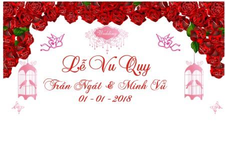 Phông Trang Trí Đám cưới file corel