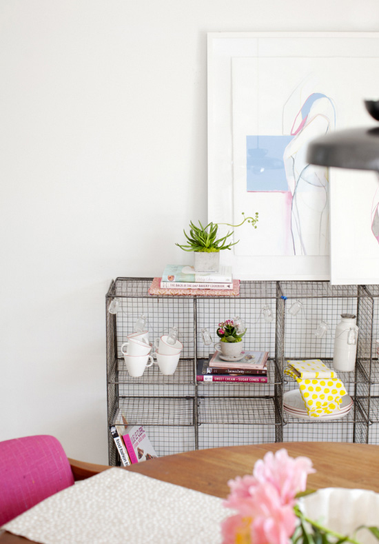Wire Frame Accents Wire Frame Cubby Hole Shelf