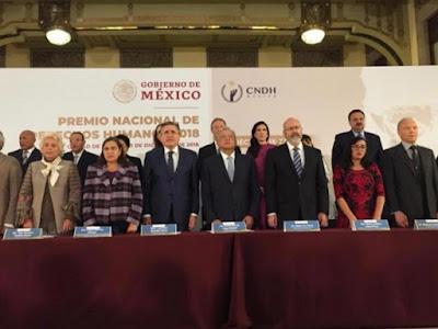 López Obrador encabeza entrega del Premio Nacional de Derechos Humanos