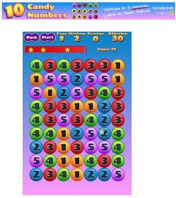 Resultado de imaxes para vedoque.com/juegos/juego.php?j=candy-numbers&l=es