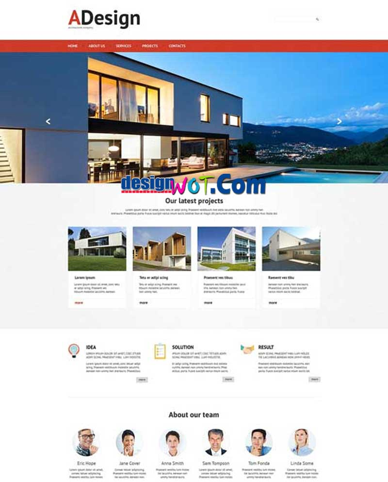 ADESIGN Responsive HTML WordPress Template