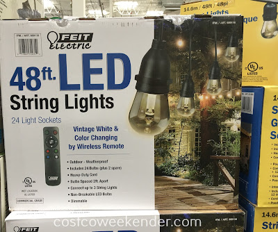 Costco 689116 - Feit Electric 48ft LED String Lights - Light the night with bright LEDs
