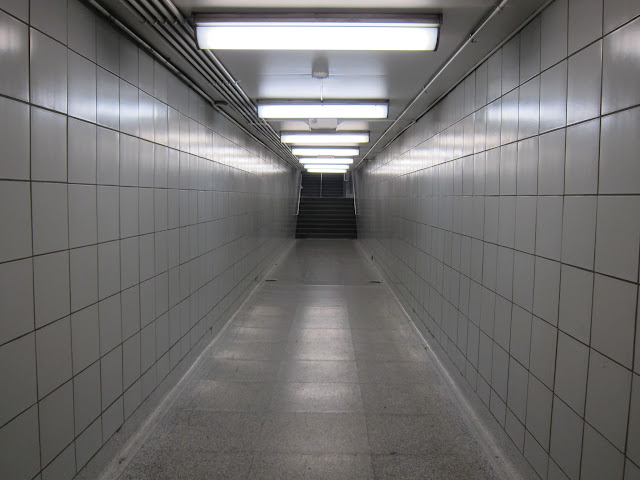 Passenger walkway beneath Dufferin street