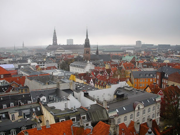 View of Copenhagen, Denmark from the round tower