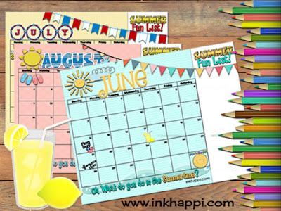 Summer Fun activities and calendars
