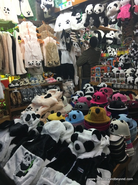 panda specialty shop in Wide Alley in Chengdu, China
