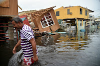 Hurricane Maria caused widespread damage in Puerto Rico. It hit within weeks of Hurricanes Irma striking Florida and Harvey flooding the Texas coast. (Credit: Hector Retamal/AFP/Getty Images) Click to Enlarge.