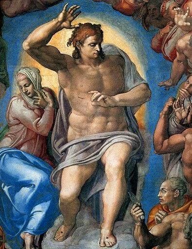 Cristo: O Juiz - Michelangelo Buonarroti e suas pinturas (Renascimento) Italiano