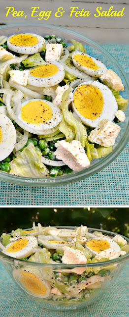 Throw together this crispy Pea, Egg and Feta Salad in minutes, especially if you have hard boiled eggs in the fridge