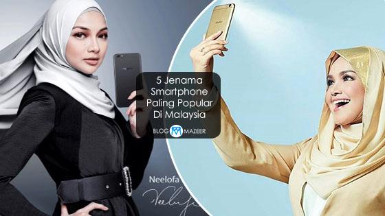 5 Jenama Smartphone Paling Popular Di Malaysia