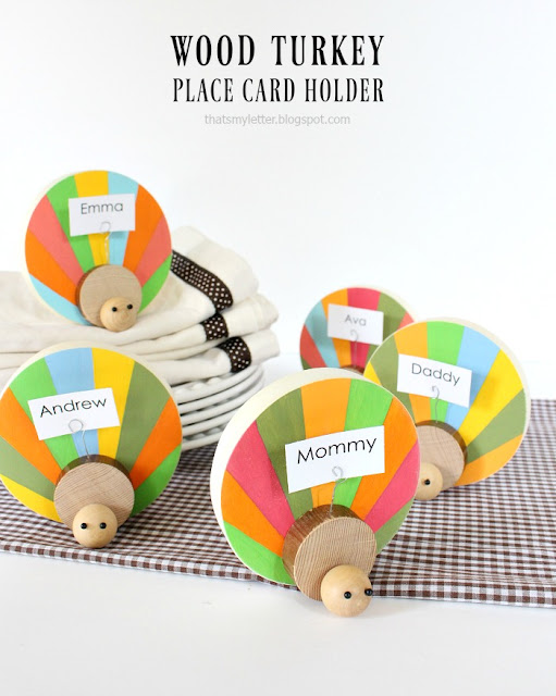 wood turkey place card holders diy