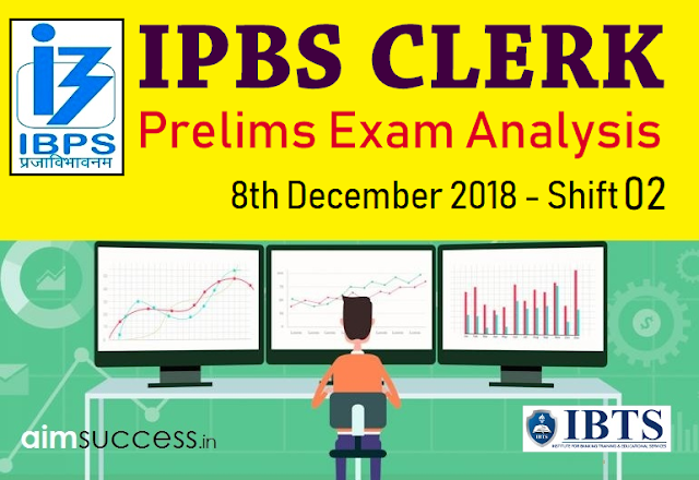 IBPS Clerk Prelims Exam Analysis & Review 2018: 8th Dec Shift 2