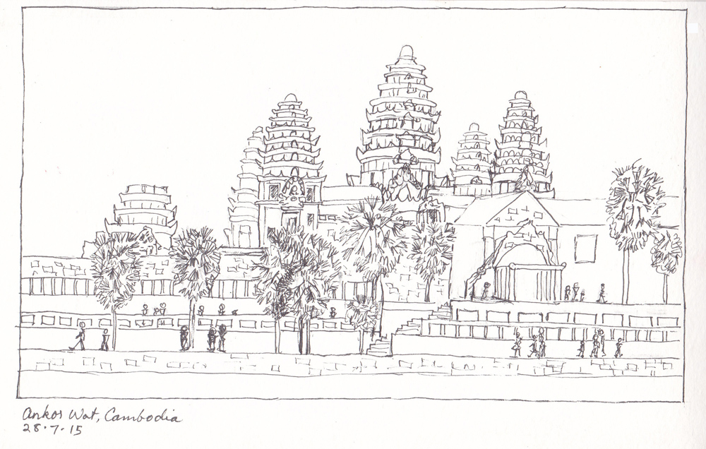 It is a photo of Effortless Angkor Wat Drawing