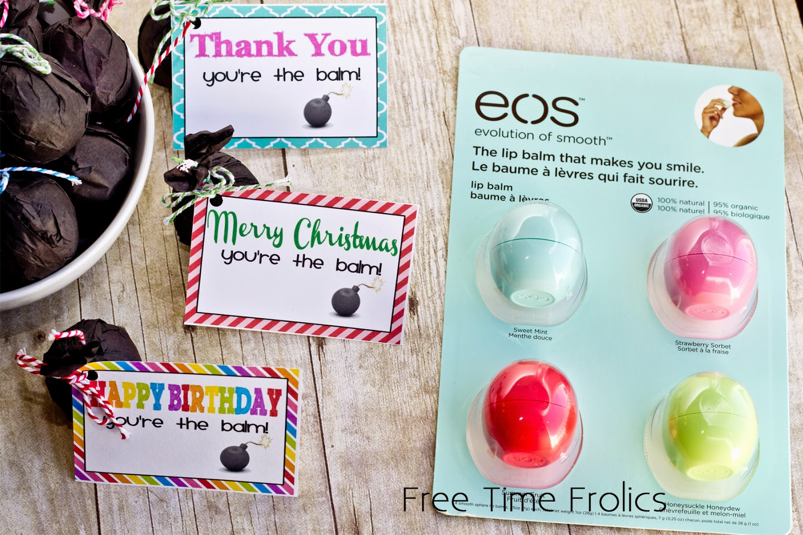 EOS Lip Balm Printable T Cards