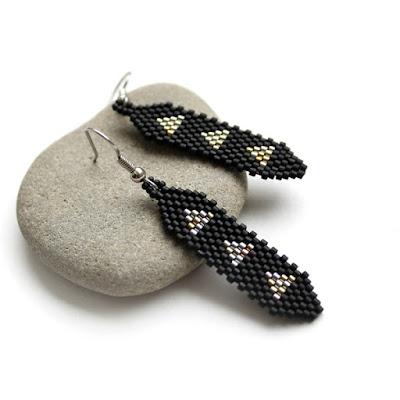 купить черные серьги бижутерия дизайнерские серьги ручной работы