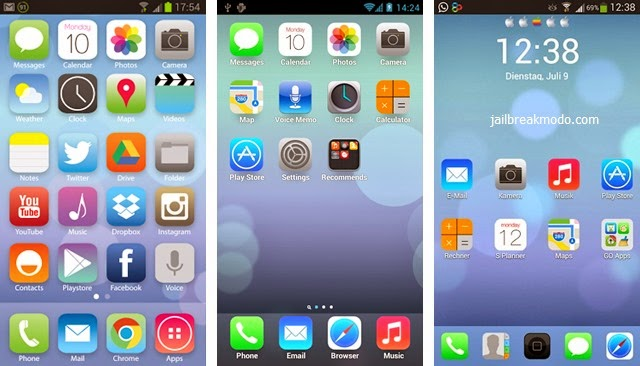 aNDROID n' nATURE: iOS 7 Launcher for Android Apk free download
