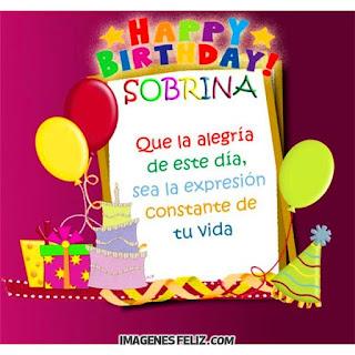 Feliz Cumpleaños Sobrina. Happy birthday niece