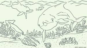 Most Popular Dolphin On Sea Coloring Sheet For Print