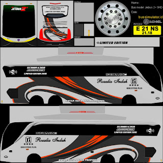 Dowmload Livery Bus Rosalia Indah