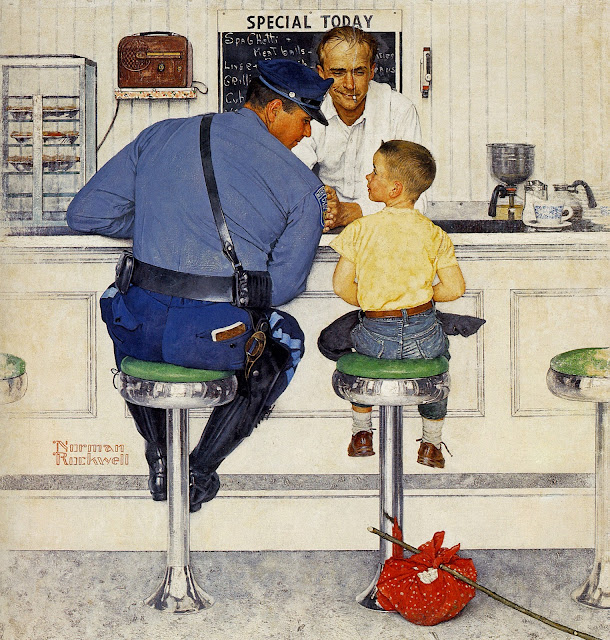 1958 The Runaway by Norman Rockwell