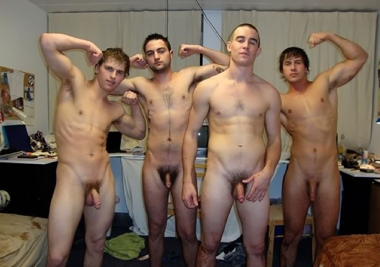 young male nude models together