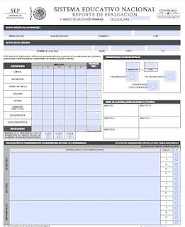 Formato Reporte de Evaluación Primaria EN WORD Y PDF EDITABLES
