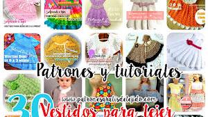 30 Vestidos de Niñas para Tejer / Colección