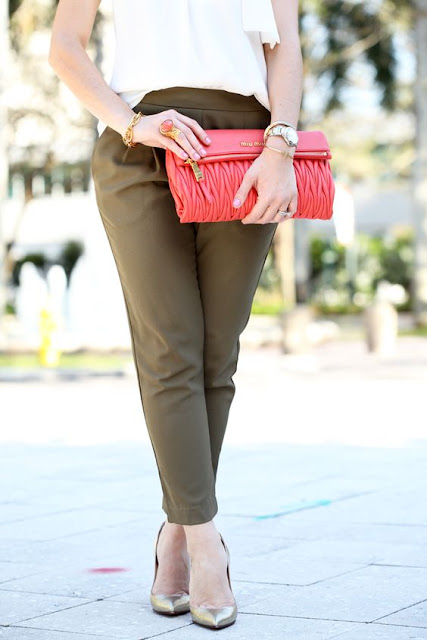 Olive & Coral outfit