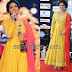 Yellow Floor Length Churidar