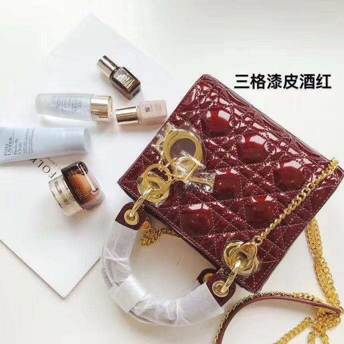CHRISTIAN DIOR Mini Lady Dior Calfskin Bag M0505OVRB M323 🎁 FREE Original  Gift Box be277ec78d