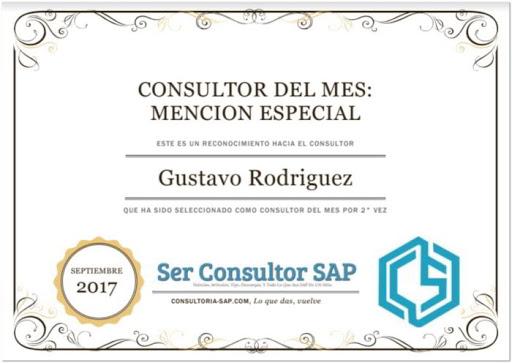 Mención Especial SAP - Consultoria-SAP