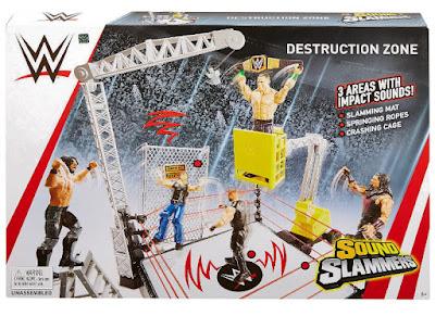 WWE : Sound Slammers Zona de Destrucción : Ring de Lucha Destruction Zone  Producto Oficial Wrestling 2018 | Mattel FXG08 | A partir de 6 años  COMPRAR ESTE JUGUETE