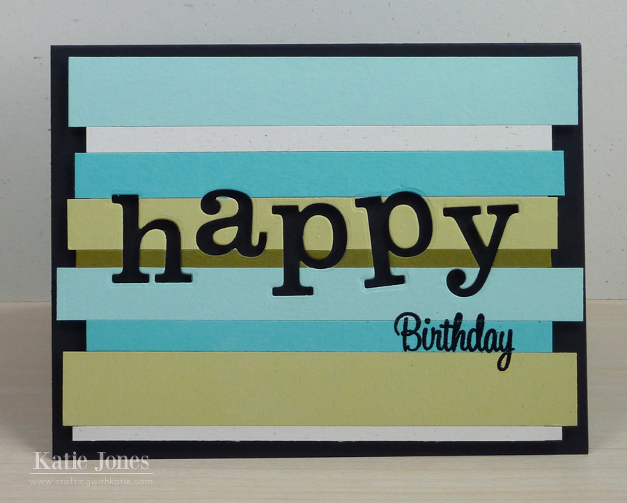 Wonderful Crafting With Katie Fun Masculine Birthday Card NI52