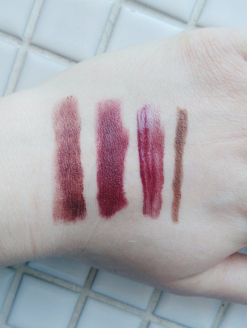Bold Autumn Lip Colours - Swatches