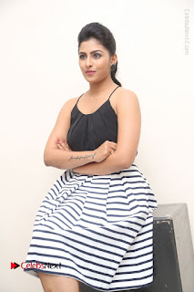 Telugu Actress Kruthika Jayakumar Stills in Short Dress at Intlo Deyyam Nakem Bhayam Success Meet  0192.JPG