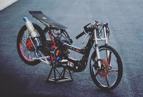 modifikasi mio drag 300cc