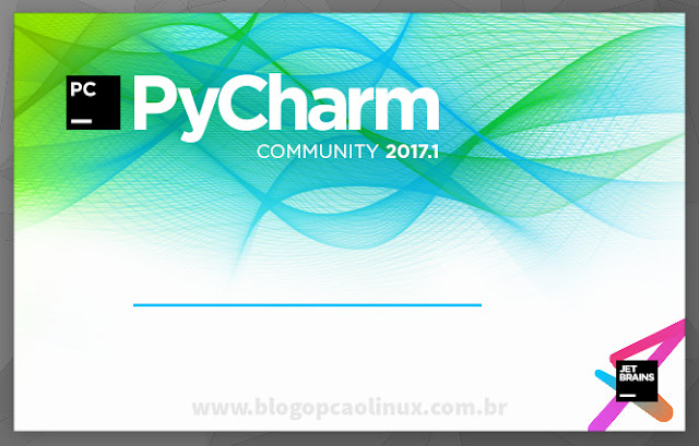 Tela de carregamento do PyCharm
