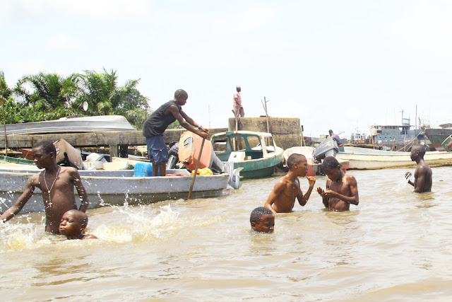 bathing in Calabar